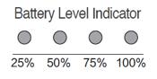 DJI battery level indicator