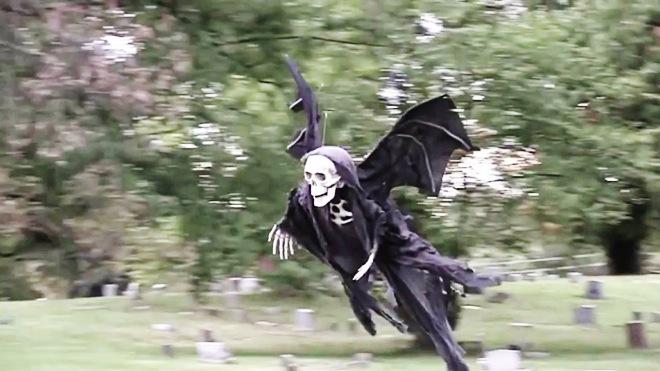 Epic Halloween Drone Prank - Dronethusiast