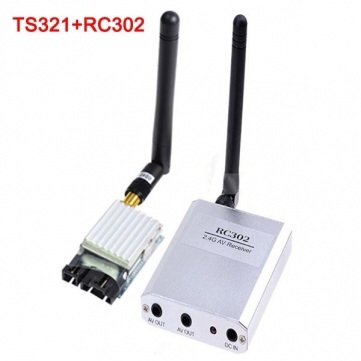 Boscam 2.4G 8CH 500mW Wireless AV FPV Transmitter Receiver TS321+RC302