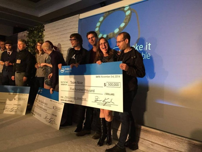Nixie team at Intel Prizes Awarded