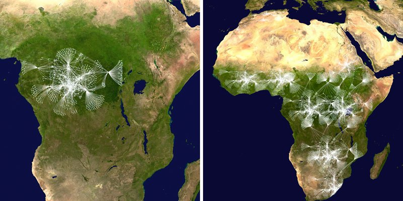Envisioned drone network in Africa