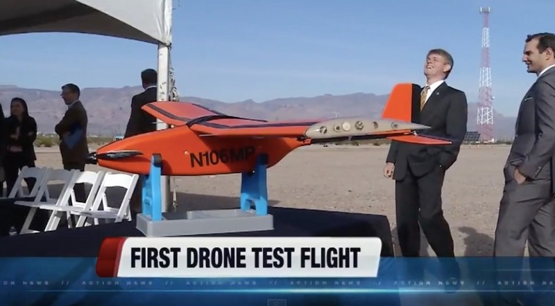 First Drone Crashed in Nevada Test Program's Demo
