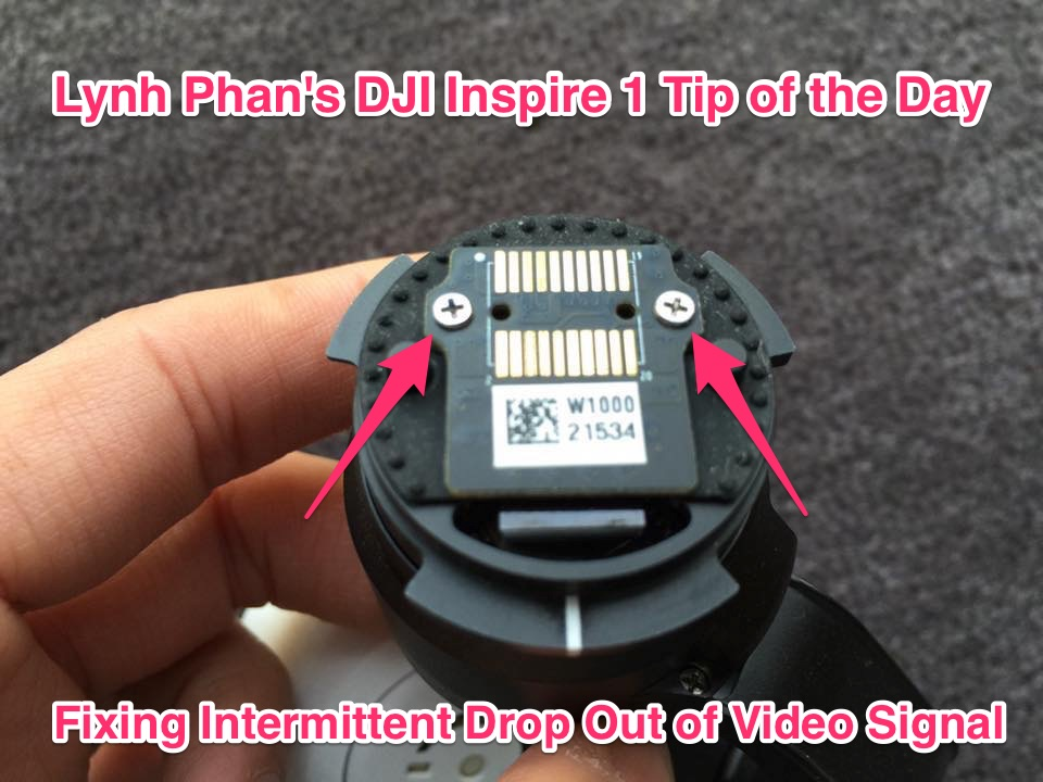 lynh phan's inspire 1 tips fixing loss of video signal