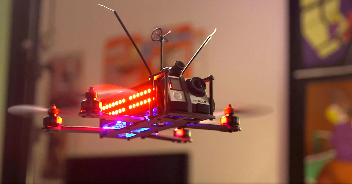 The DRL have developed their own drones for pilots to race with.