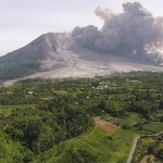 mt sinabung drone footage