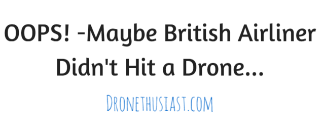 british airways didnt hit drone