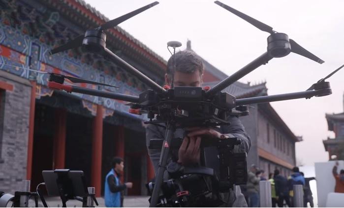 dji m600 film making drone