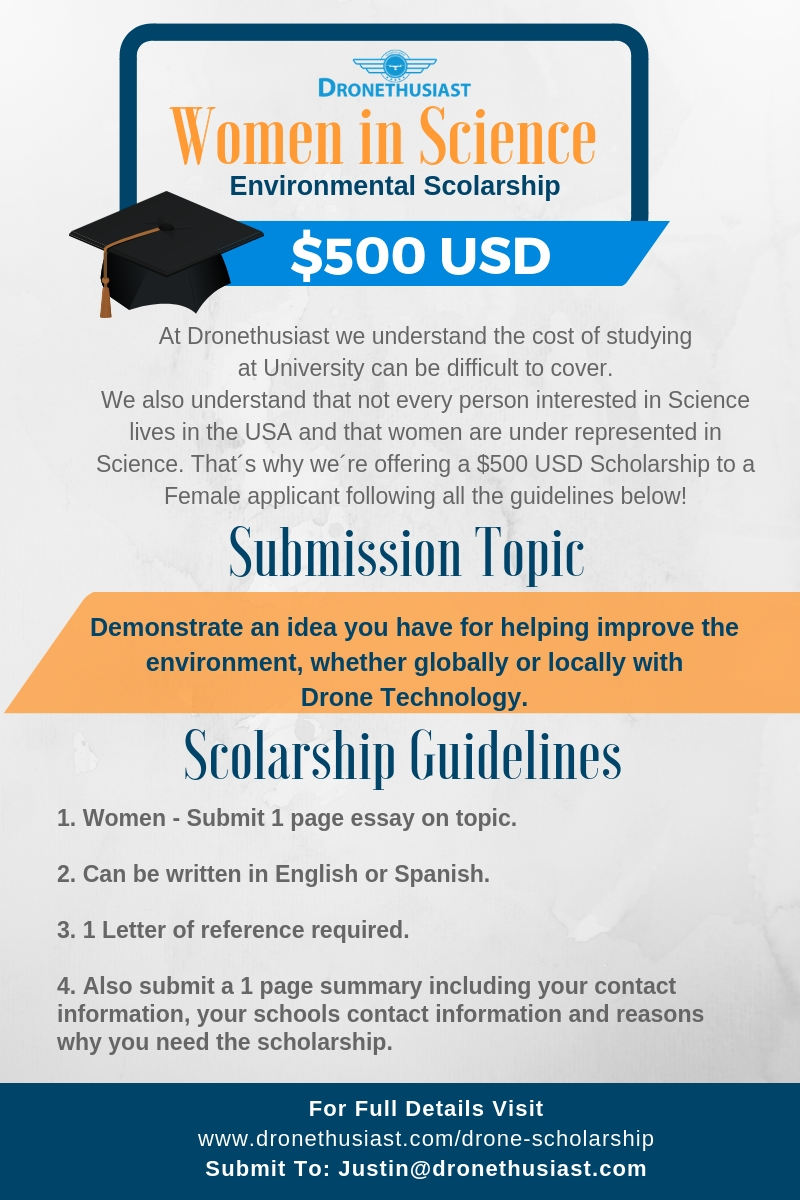 dronethusiast  global drone scholarship  apply now dronethusiast scholarship women in science