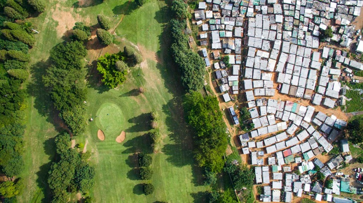 drone captures the gap between rich and poor 5