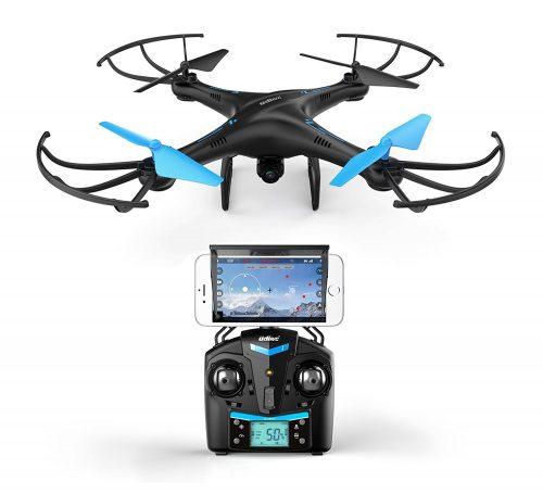 Force1 UDI U818A WiFi FPV Drone in Blue under 500