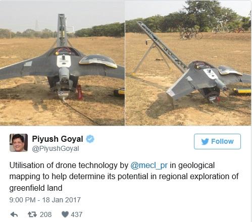 piyush-goyal-using-drones-in-mining