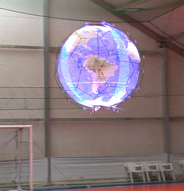 The First Spherical Drone Display In The World