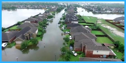 drone footage hurricane harvey houston