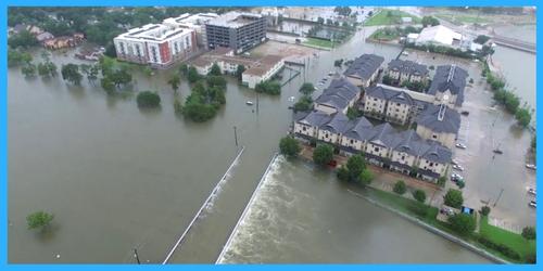 houston hurricane harvey drone footage