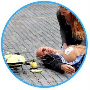 defibrillator to drone