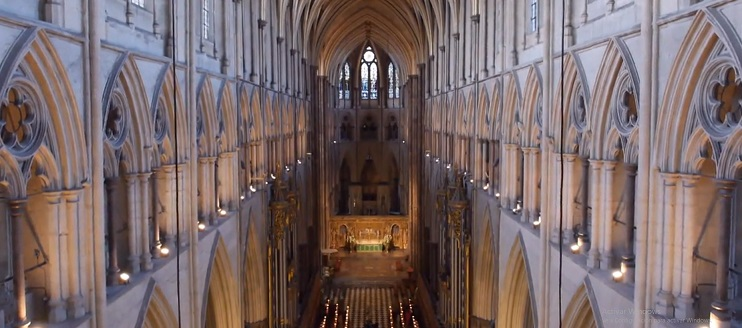 westminster abbey drone footage 1