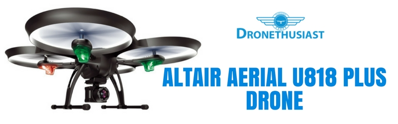 altair aerial u818 plus drone header