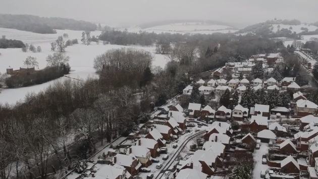 west wycombe drone footage