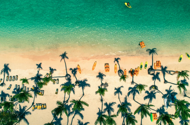 tropical island beach dominican republic dronestagram