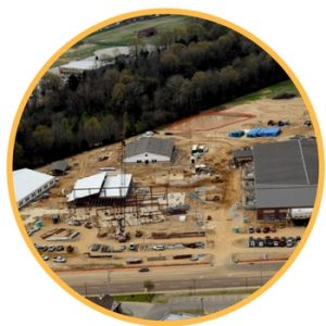 construction aerial photography memphis