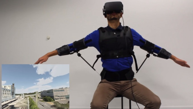 control drone with body exosuit flyjacket