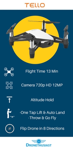 dji tello quadcopter specifications