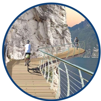 lake garda cycle path render