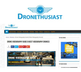 Drone advertising with dronethusiast