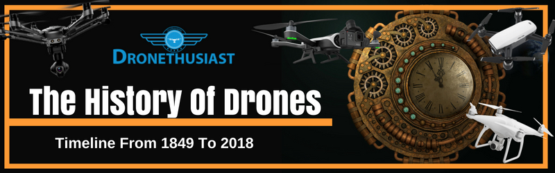 The History Of Drones (Drone History Timeline From 1849 To 2019)