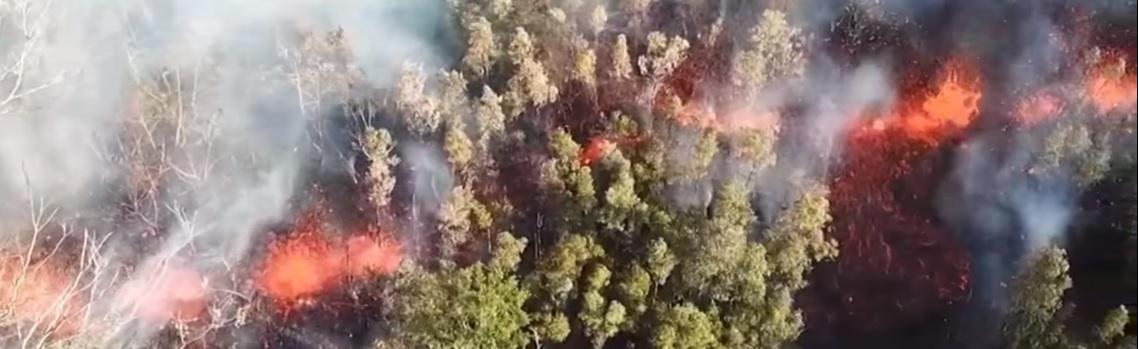 kilauea eruption hawaii drone footage