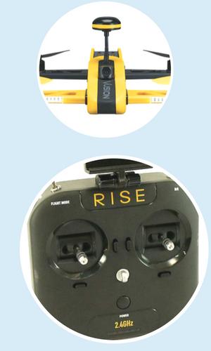 rise vusion fpv racer drone tech specs
