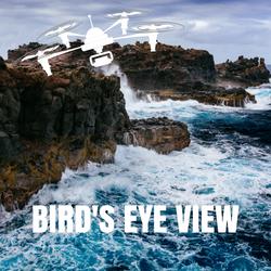 drone shots birds eye view