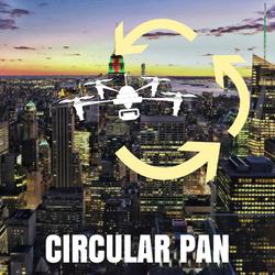 drone shots circular pan