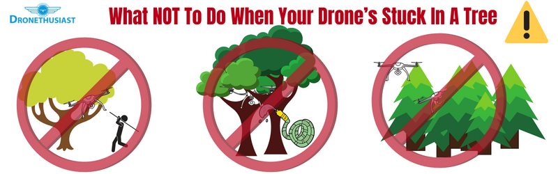 What NOT To Do When Your Drone's Stuck In A Tree