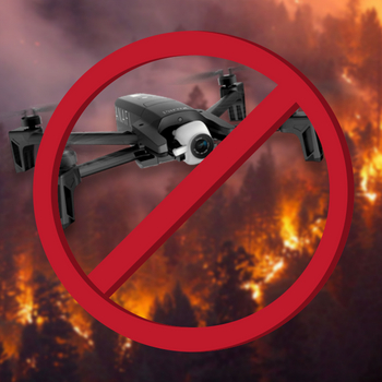 illegal drones wild fire