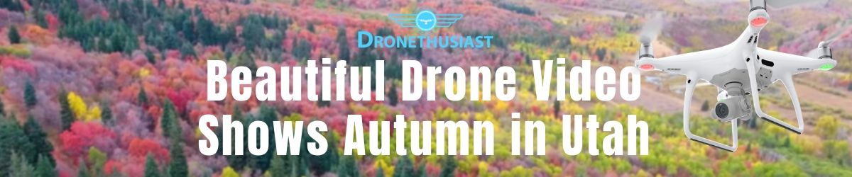 beautiful drone footage shows autumn in utah