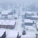 drone footage snowing vermont 2019