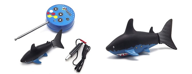 best remote control boats for kids - emart mini rc boat shark
