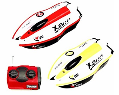 best remote controlled toy boats reviews for kids - paradise treasures rc racing boat battle set