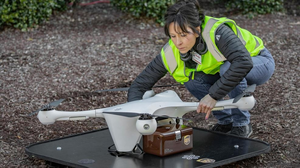 north carolina ups drone delivery blood