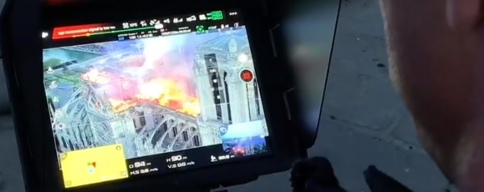 notre drame fire drones firefighters