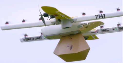 wing googles drone delivery service