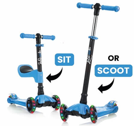 best scooter for kids Lascoota 2-in-1 Kick Scooter