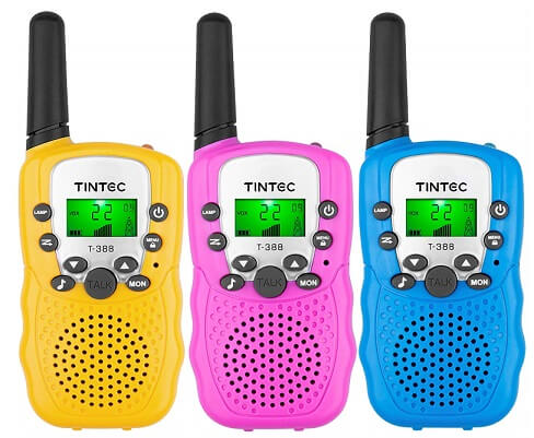 best walkie talkie for kids Tintec 3-Pack Walkie Talkies
