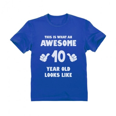 what_an_awesome_10_t_shirt gift for 10 year old