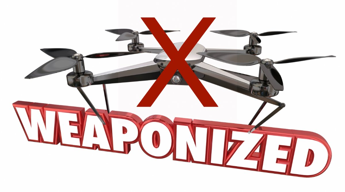 faa warns against attaching weapons to drones