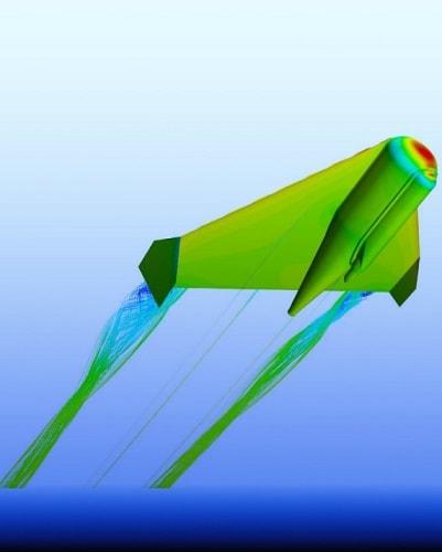 flying fish robot render