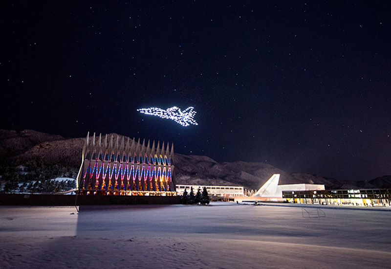 air force academy drone light show intel