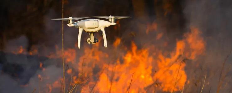 fires in california drones