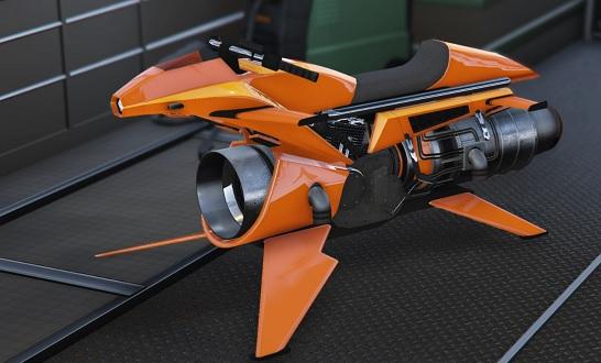 flying motorbike hermes ii
